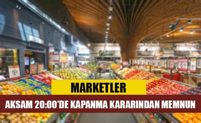 Marketler, akşam saat 20:00'de kapanma kararından memnun