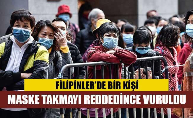 Filipinler'de bir kişi maske takmayı reddettiği için vuruldu