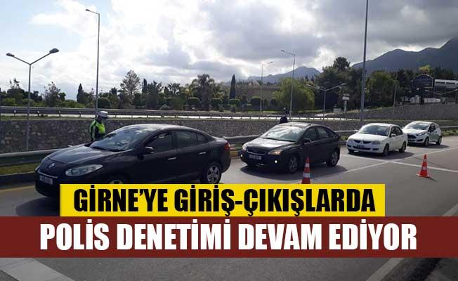 Girne'ye giriş-çıkışlarda polis denetimi