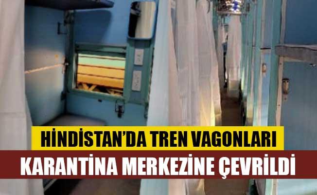 Hindistan'da tren vagonları karantina merkezine çevrildi