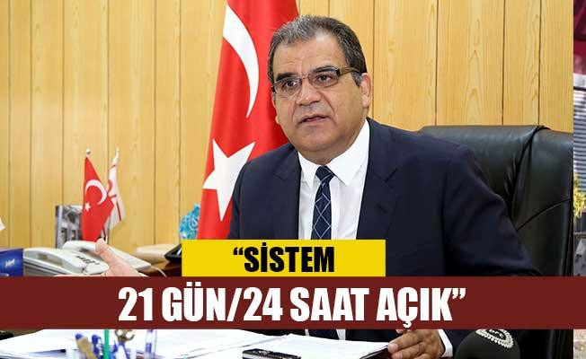 """Sucuoğlu: """"Sistem 21 gün/24 saat açık, panik yapmayın"""""""