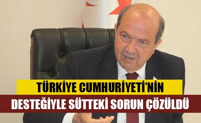 """Tatar: """"Türkiye Cumhuriyeti'nin desteği ile sütteki sorun çözüldü"""""""