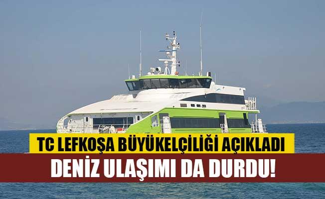 TC ile KKTC arasında deniz ulaşımı da durdu!