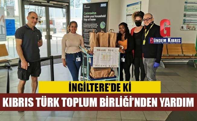 İngiltere'de ki Kıbrıs Türk Toplum Birliği'nden koronavirüs yardımları.