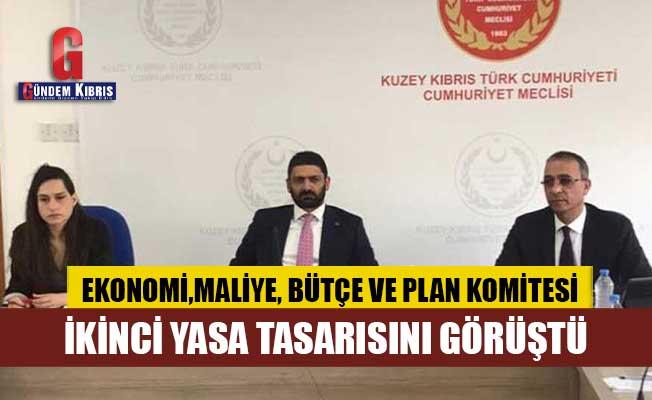 Ekonomi, Maliye, Bütçe ve Plan Komitesi, 2 yasa tasarısını görüştü