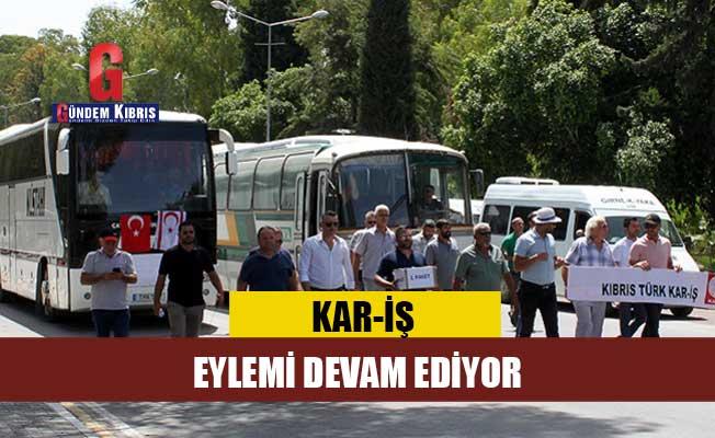 Otobüs şoförlerinin eylemi sürüyor