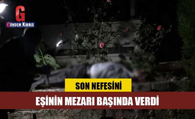Talihsiz adam, 1 yıl önce vefat eden eşinin mezarı başında canına kıydı