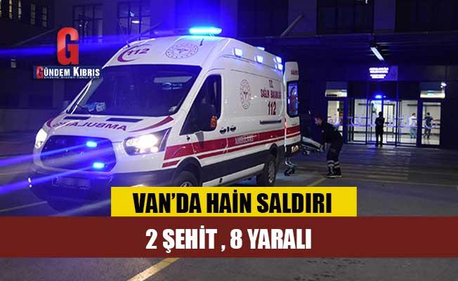 Van'da yol inşaatında çalışan işçilere EYP'li saldırı: 2 şehit, 8 yaralı