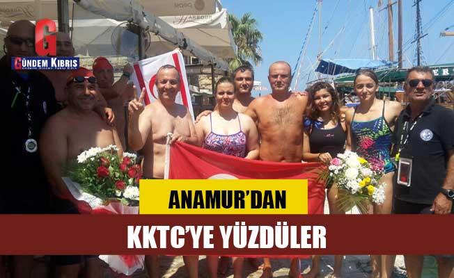 Ambargolara dikkat çekmek için Anamur'dan KKTC'ye yüzdüler