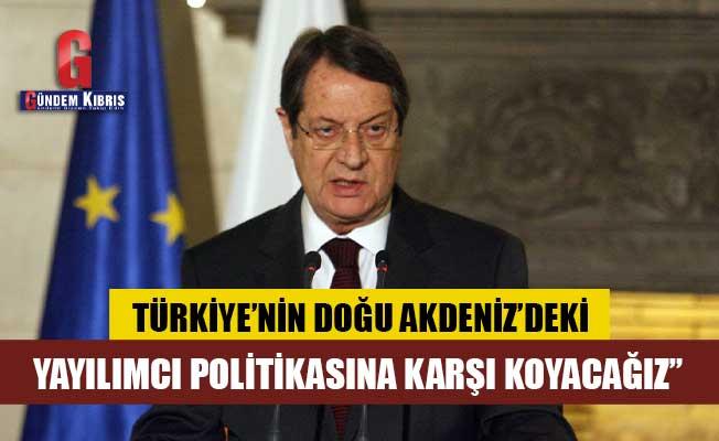 """Anastasiadis: """"Türkiye'nin Doğu Akdeniz'deki yayılmacı politikasına karşı koyacağız"""""""