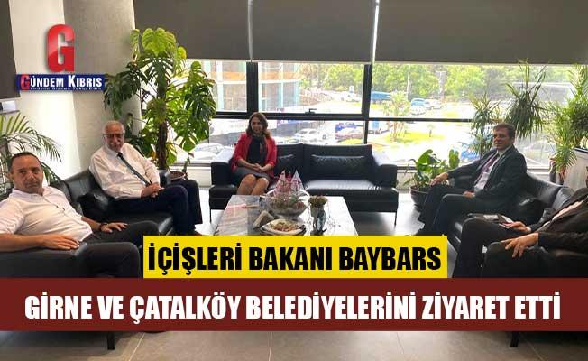 Baybars, Girne ve Çatalköy belediyelerini ziyaret etti