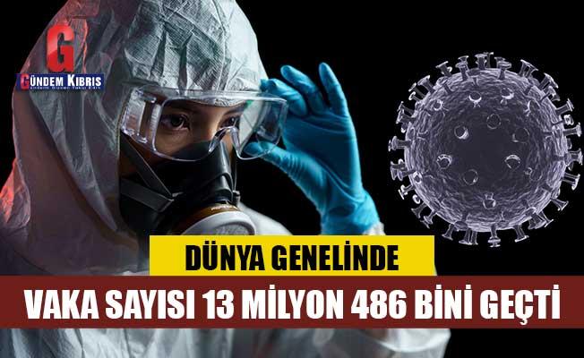 COVID-19 tespit edilen kişi sayısı 13 milyon 486 bini geçti