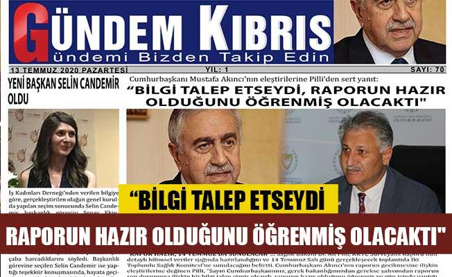 Gündem Kıbrıs Gazetesinde günün manşeti