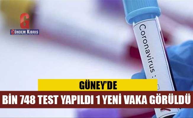 Güney Kıbrıs: Bin 748 test, 1 yeni vaka