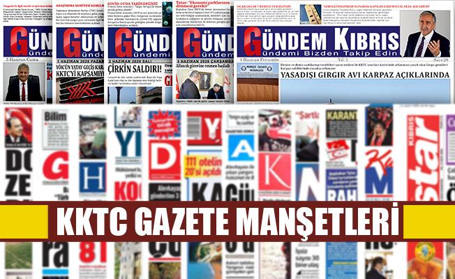 KKTC Gazetelerinin Manşetleri  / 12 Temmuz 2020