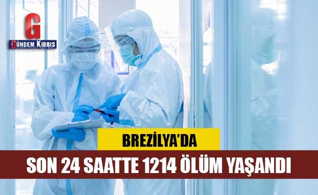 Son 24 saatte Brezilya'da 1214 kişi Covid-19'dan öldü