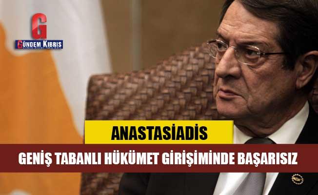 Anastasiadis, Geniş Tabanlı Hükümet Girişiminde Başarısız
