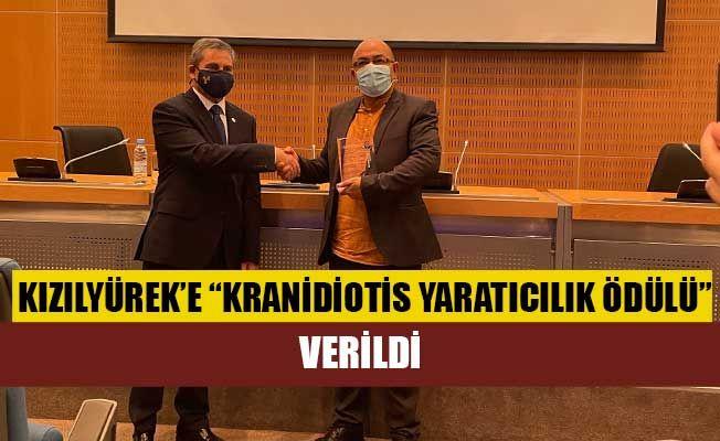 """Kızılyürek'e """"Kranidiotis Yaratıcılık Ödülü"""" verildi"""