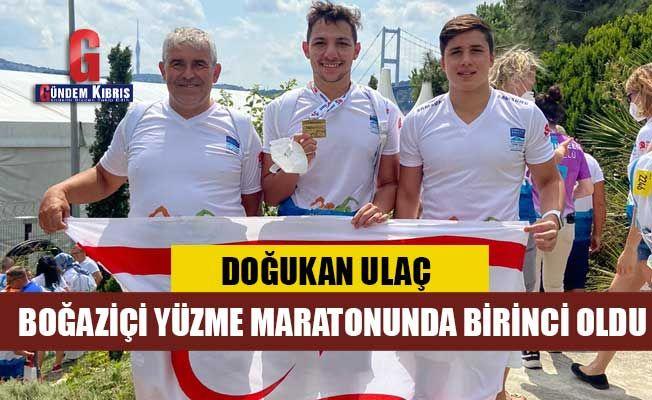 Doğukan Ulaç Boğaziçi yüzme maratonunda birinci oldu