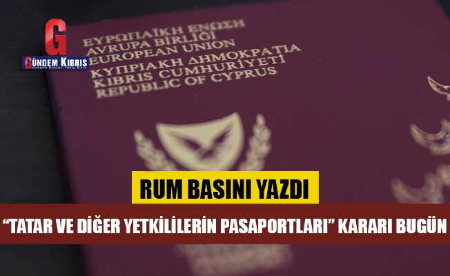 Pasaportlarla ilgili karar bugün!