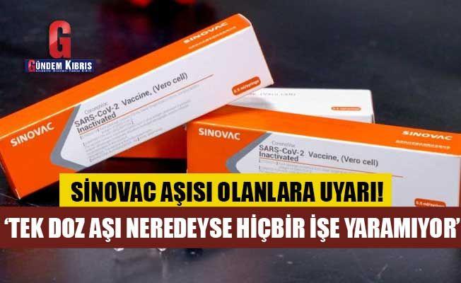 Sinovac Aşısı Olanlara Uyarı!